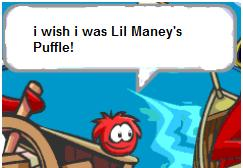 Yarr Wishing To Be Lil Maneys Puffle After The Deal He Couldnt Afford