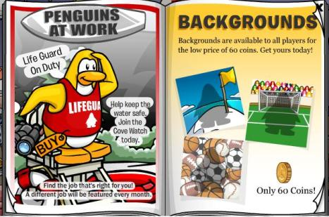 Backgrounds and penguin at work1