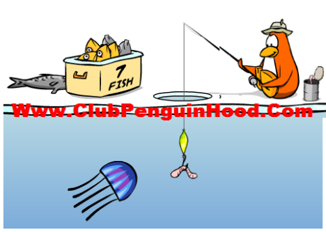 club penguin how to catch the mullet in ice fishing